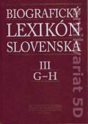 Biografický lexikón Slovenska III. G - H