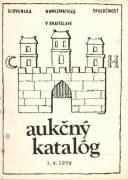 Aukčný katalóg 1. 4. 1979