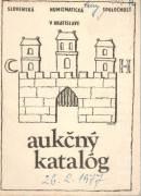 Aukčný katalóg 26. 2. 1977