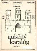 Aukčný katalóg 21. 5. 1978