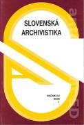 Slovenská archivistika 1 / 2006