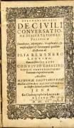 De Civili conversatione dissertationes politicae, enucleatae