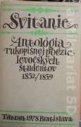 Hleba Edmund - Svitanie Antológia rukopisnej poézie levočských študentov 1832 / 1