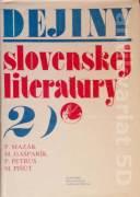 Dejiny slovenskej literatúry 2. (Novšia slovenská literatúra 1780 - 1918)