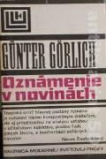 Gorlich Gunter - Oznámenie v novinách
