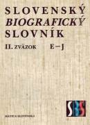 Slovenský biografický slovník II. E - J