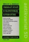TRIDSAŤ STATÍ O SLOVENSKEJ LITERATÚRE