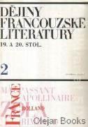 Dějiny francouzské literatury 19. a 20. stol. 2